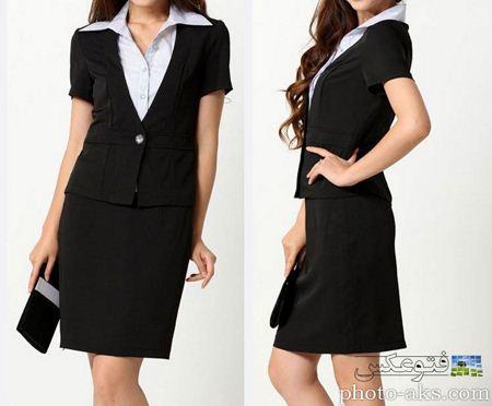مدل کت و دامن کره ای مشکی korean skirt suit models