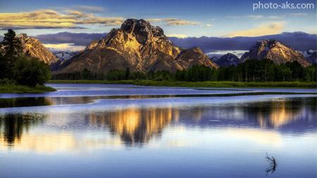 عکس منظره زیبای 2014 landscape mountain lake