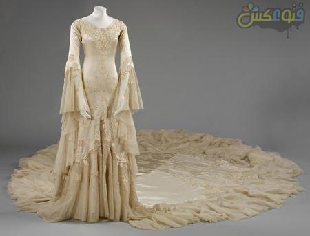 لباس عروس دنباله دار wedding dress