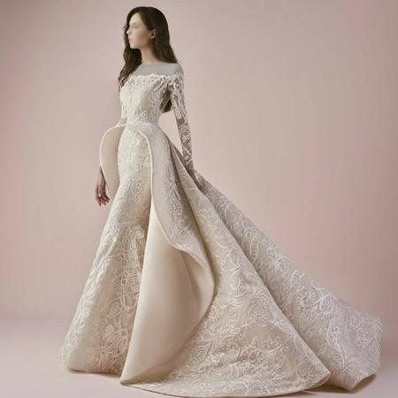 لباس عروس کرم خاص زیبا lebas aroos khas kerem