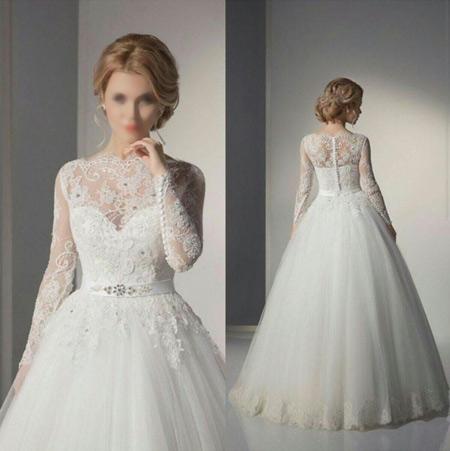 مدل لباس عروسی جدید دانتل lebas aroos dantel