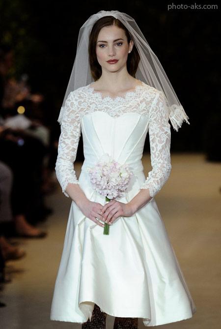 لباس عروس کوتاه با تور دانتل lebas aros kotah