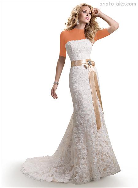 لباس عروس اروپایی شیک و ساده lebas aroos oropaei