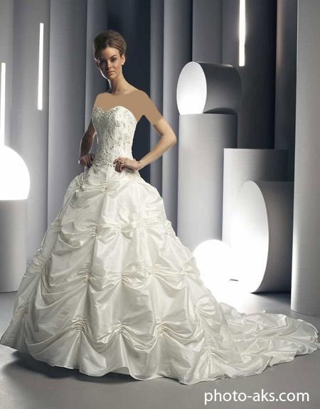 مدل لباس عروس چین دار lebas aros chin dar