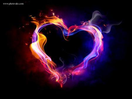 عکس قلب در آتش love fire