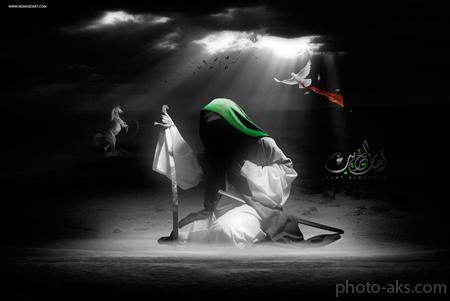 عکس امام حسین در کربلا moharam emam hosein