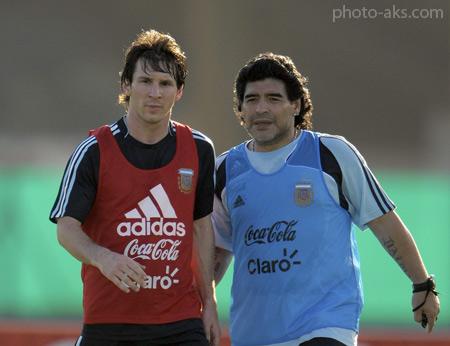 لیونل مسی و مارادونا messi maradona
