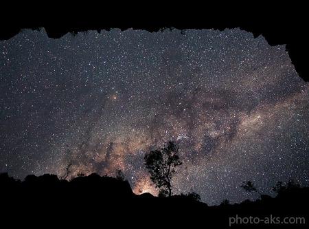 کهکشان راه شیری در آسمان شب milky way in night