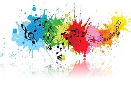 پوستر نوت های رنگی موسیقی music colour notes