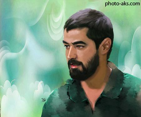 نقاشی چهره شهاب حسینی nagashi az shahab hoseini