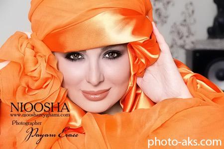 عکس با آرایش نیوشا ضیغمی niosha zeighami make up