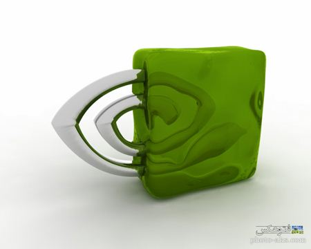 والپیپر لوگو انودیا nvidia 3d wallpaper