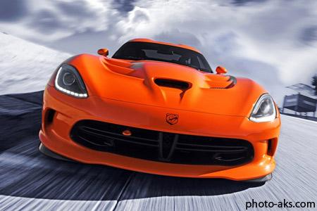 پوستر جدید ماشین سوپر اسپرت 2014 orange srt viper car