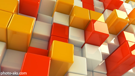 مکعب های سه بعدی گرافیکی 3d cube wallpaper