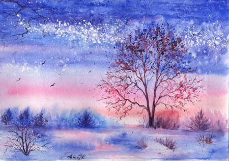 نقاشی بسیار زیبا و هنری pained landscape