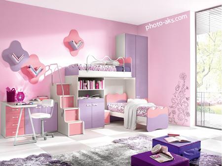 دکوراسیون اتاق دخترانه صورتی pink bedroom design