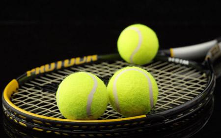 عکس راکت و توپ تنیس racket and balls tennis