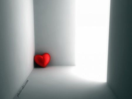 قلب قرمز تنها red alone heart