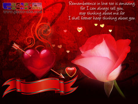 عاشقانه گل و قلب قرمز red heart and love