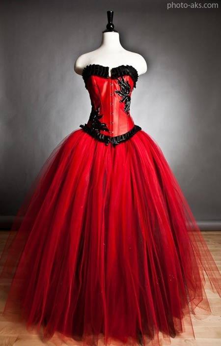 لباس عروس قرمز فشن red wedding dress