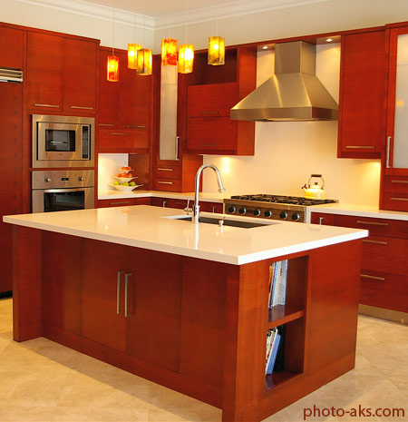 دکوراسیون آشپزخانه قرمز red kitchen decoration