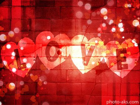پوستر لاو و قلب های قرمز red love heart