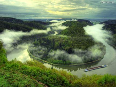 زیباترین منظره از رودخانه river nature