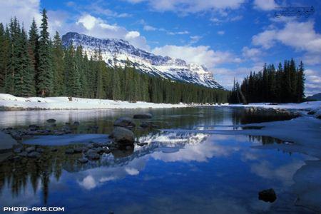 رودخانه زمستانی در کانادا river in winter