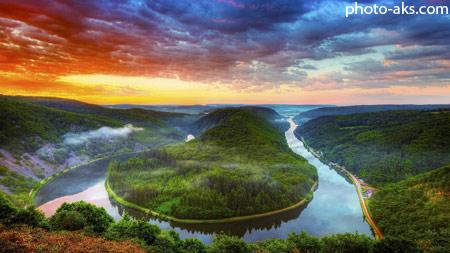 زیباترین رودخانه های جهان saar river nature landscape