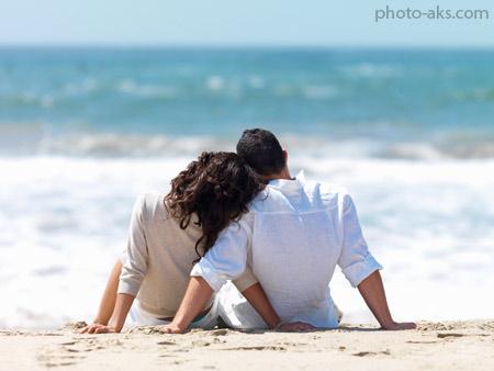عکس عاشقانه در کنار ساحل romantic love in beach