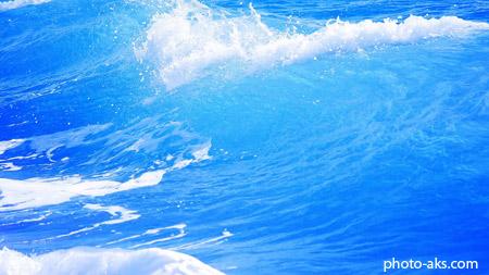 امواج خروشان دریای آبی sea waves wallpapers