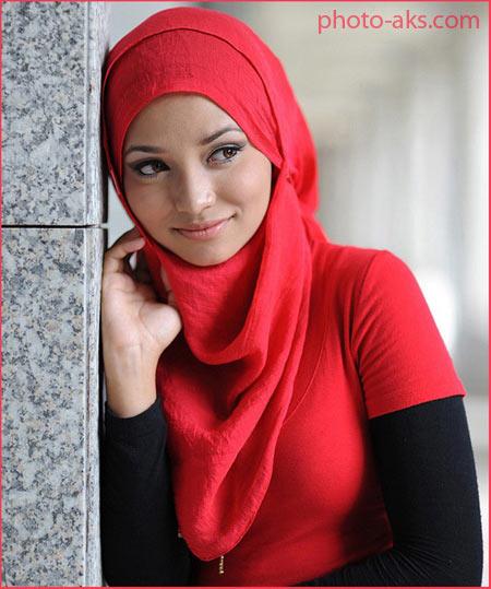 شال قرمز ترکیه پوشیده shal germez
