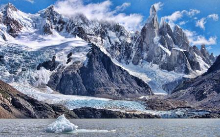 منظره زمستانی برفی کوهستان snow mountains landscape