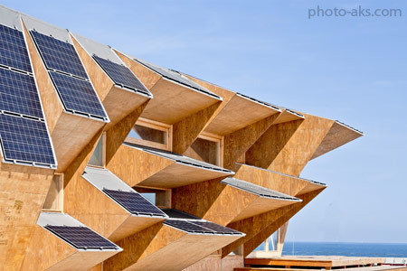 نمونه های معماری پایدار solar sustainable architecture