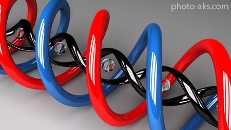 والپیپر فنر سه بعدی آبی و قرمز spring light blue red