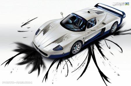 والپیپر ماشین اسپرت سفید white sport car wallpaper