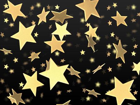 عکس پرواز ستاره های طلایی star flying gold