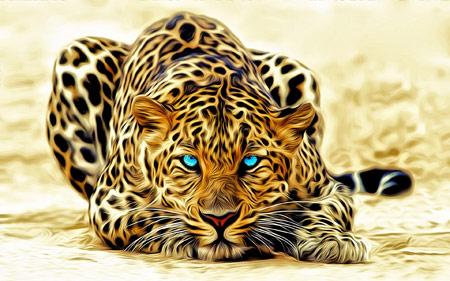 والپیپر زیبا کمین پلنگ leopard wallpaper