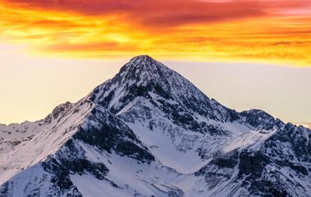 طلوع خورشید کوه های راکی کلرادو sunrise colorado rocky mountains