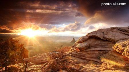 منظره طلوع خورشید در بیابان sunrise in sesert