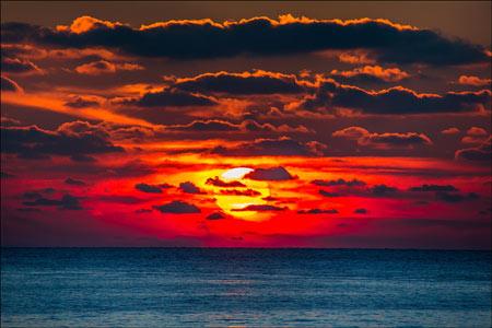 عکس منظره بسیار زیبا غروب آفتاب sunset magic wallpaper
