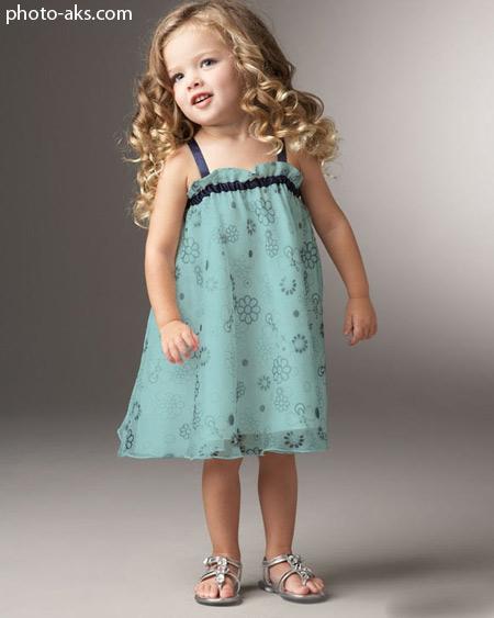 دختر بچه ناز با لباس خوشگل و مو فرفری sweet girl kid