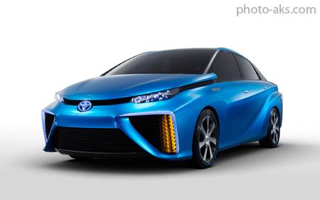 ماشین تویوتا آبی اسپرت toyota fcv concept car