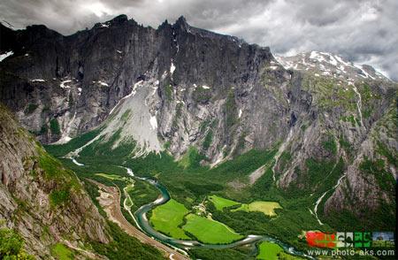 مناظر کوه های نوروژ mountain on the Norwegian