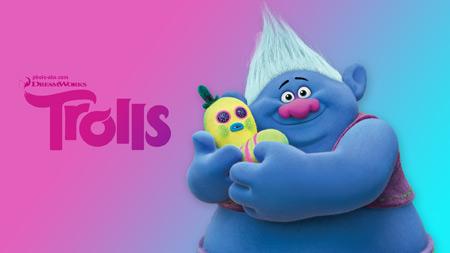 پوستر کارتون موزیکال ترول ها trolls 3d animation