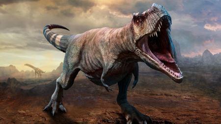عکس ترسناک دایناسور تیرکس tyrannosaurus rex