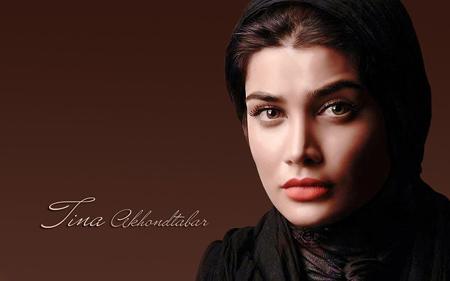 پوستر زیبا تینا آخوند تبار بازیگر زن wallpaper tina akhondtabar