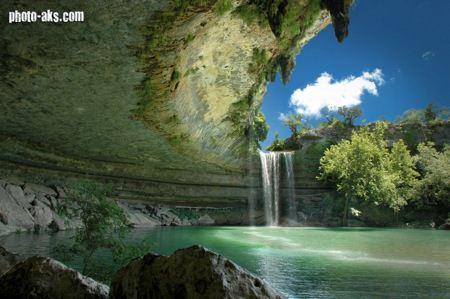 زیباترین منظره آبشار  waterfall nature landscape