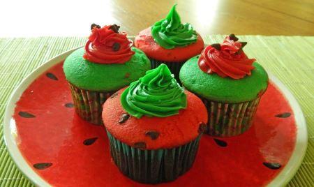 کاپ کیک شب یلدا watermelon cupe cake