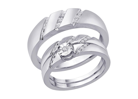 حلقه ست طلای سفید wedding ring sets